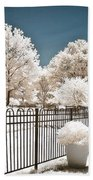 Surreal Michigan Infrared Nature - Dreamy Color Infrared Nature Fence Landscape Michigan Infrared Beach Towel