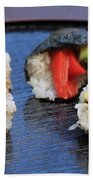 Sushi California Roll Beach Towel