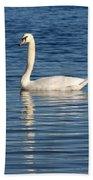 Swan Mates Beach Towel by Sabrina L Ryan
