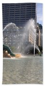 Swann Memorial Fountain In Philadelphia Beach Towel