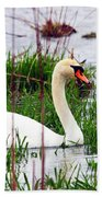 Swan's Marsh Beach Towel