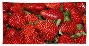 Sweet Florida Strawberries Beach Towel