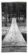 Swinging Cable Foot Bridge Beach Towel