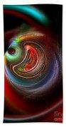 Swirl Of Colors Beach Towel