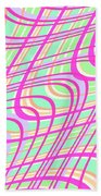 Swirly Check Beach Towel