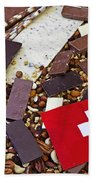 Swiss Chocolate Beach Towel by Joana Kruse