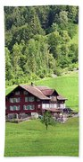 Swiss Village In The Alps Beach Towel