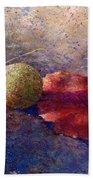 Sycamore Ball And Leaf Beach Towel