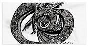 Symbol Of The Dragon Beach Towel