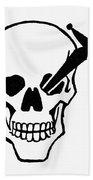 Symbol: Skull & Dagger Beach Towel