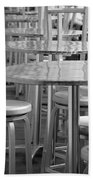 Tables And Stools Beach Towel