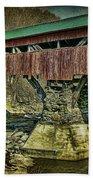 Taftsville Covered Brdidge Beach Towel
