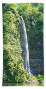 Tahitian Waterfall Beach Towel
