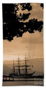 Tall Ship Gorch Fock Beach Towel