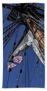 Tall Ship Rigging Beach Towel