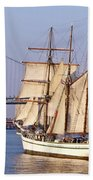 Tall Ship Three Beach Towel
