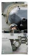 Tank Driver Of A Belgian Leopard 1a5 Beach Towel