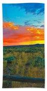 Taos Sunset Ix Beach Towel