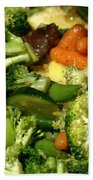 Tasty Veggie Stir Fry Beach Towel