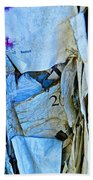 Tattered Paper On A Bulletin Board No.1045 Beach Towel