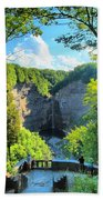 Taughannock Falls Overlook Beach Towel
