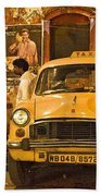 Taxi Talk Beach Towel
