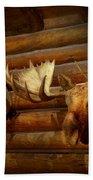 Taxidermy - The Hunting Lodge  Beach Towel