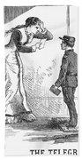 Telegram: Death, 1879 Beach Towel