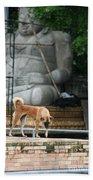 Temple Dog And Buddha Beach Towel