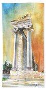 Temple Of Apollo In Kourion Beach Towel