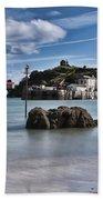 Tenby Harbour 1 Beach Towel