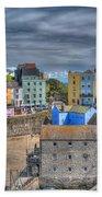 Tenby Harbour In Summer 2 Beach Towel