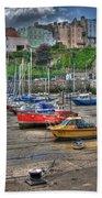 Tenby Harbour In Summer 3 Beach Sheet