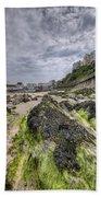 Tenby Rocks 3 Beach Towel