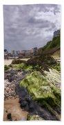 Tenby Rocks Painted Beach Towel