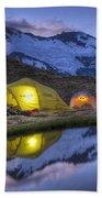 Tents Lit By Flashlight On Cascade Beach Towel