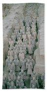 Terracotta Warriors In Xian In China Beach Towel
