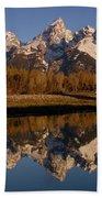 Teton Range, Grand Teton National Park Beach Towel by Pete Oxford