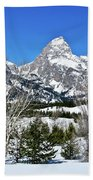 Teton Winter Landscape Beach Towel