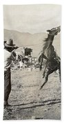 Texas: Cowboy, C1910 Beach Towel