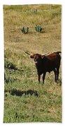 Texas Longhorns Panoramic Beach Towel