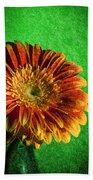 Textured Orange Flower Beach Towel