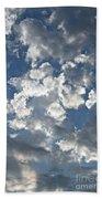 Textured Skies Beach Towel