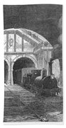 Thames Tunnel: Train, 1869 Beach Towel