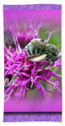 Thank You Greeting Card - Bumblebee On Ironweed Beach Towel