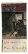 Thanksgiving Card, 1909 Beach Towel