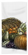 Thanksgiving: Cornucopia Beach Towel