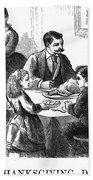 Thanksgiving Dinner, 1873 Beach Towel