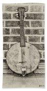 That Old Banjo Mandolin Beach Towel