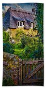 Thatched Roof Country Home Beach Towel